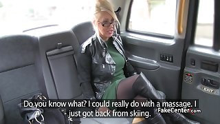 Sexy milf masseuse banging in taxi